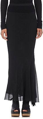 Rick Owens Women's Silk Crepe Long Skirt $885 thestylecure.com