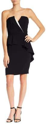 Adelyn Rae Kacey V-Neck Ruffle Dress