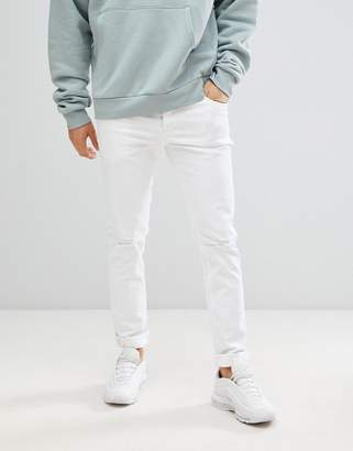Le Breve Skinny Fit Ripped Jeans