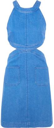 Stella McCartney - Cutout Stretch-denim Dress - Mid denim $675 thestylecure.com