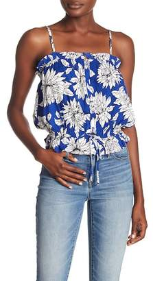 Abound Ruffle Trim Floral Tank Top