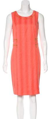 Etcetera by Edmond Chin Patterned Knee-Length Dress w/ Tags