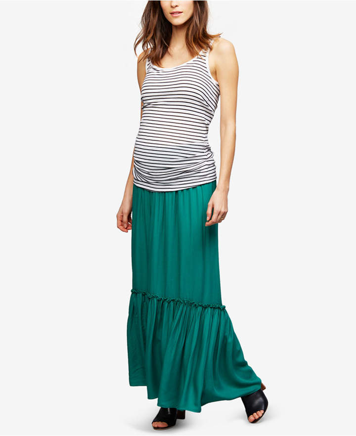A Pea In The Pod A Pea In The Pod Maternity Smocked Maxi Skirt