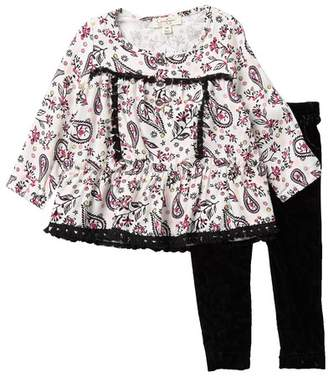 bf609f6fcb0fe Jessica Simpson Printed Top & Velvet Leggings Set (Baby Girls)