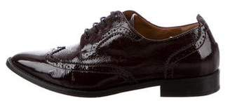Aquatalia Patent Leather Wingtip Oxfords