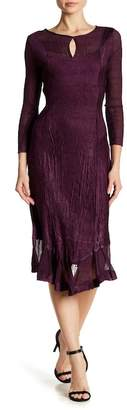 Komarov 3/4 Sleeve Sharkbite Dress