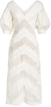 Zimmermann Painted Heart Linen Dress