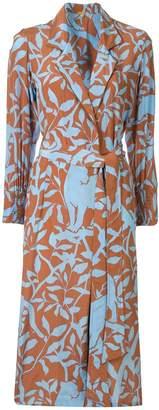 Johanna Ortiz floral print belted coat