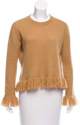 Christian Dior Fringe-Trimmed Cashmere Sweater