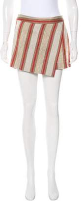 Barbara Bui Striped Woven Skort