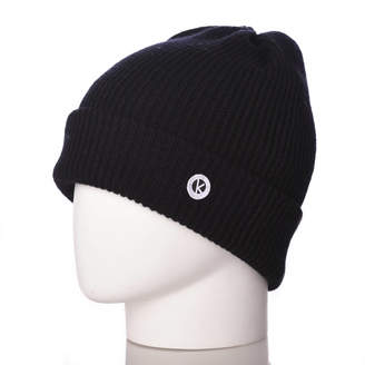 482398f3906 K-nit Bowen Turn Up Merino Wool Beanie Hat Unisex