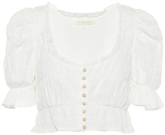 Jonathan Simkhai Broderie anglaise cotton crop top