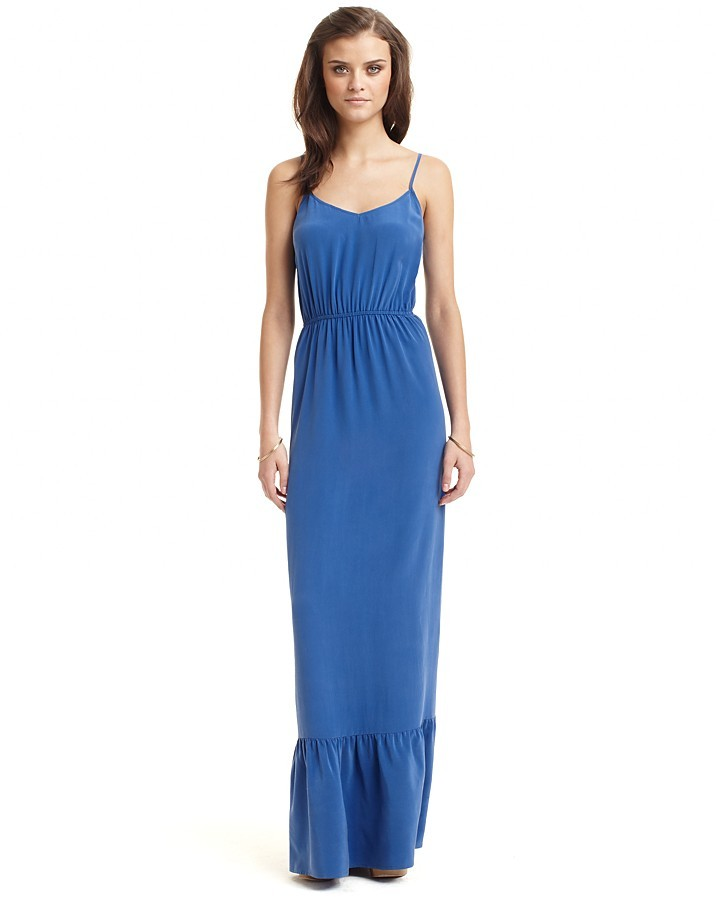 Twelfth Street by Cynthia Vincent Tiered Silk Maxi Dress