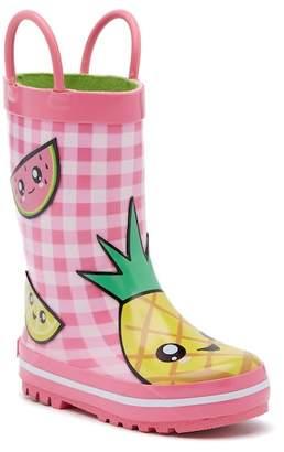 Laura Ashley Fruit Waterproof Rain Boot (Toddler & Little Girls)