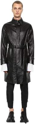 Alexander McQueen Shiny Leather Trench Coat