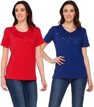 Factory Quacker Set of Two Stars and Studs Short Sleeve T-shirts