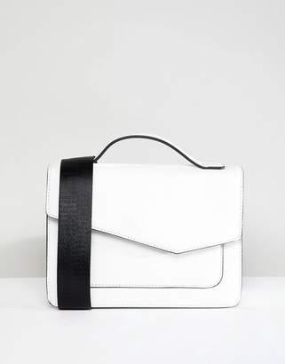 Park Lane Asymmetric Crossbody Bag With Webbing Strap
