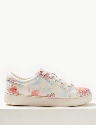 Marks and Spencer Floral Print Trainers