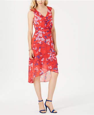 INC International Concepts I.n.c. Printed Faux-Wrap Dress