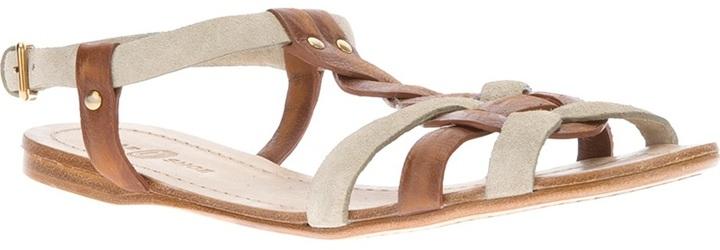 Car Shoe flat t-bar sandal