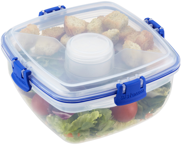 Container Store 37 oz. Klip-It® Salad To Go Clear 1.1 ltr.