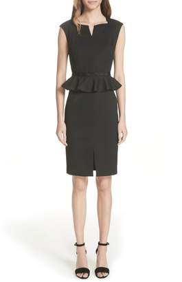Ted Baker Ted Working Title Textured Peplum Dress