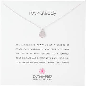 Dogeared Sterling Silver Rock Steady Anchor Necklace