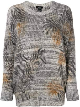 Avant Toi melange drop shoulder sweater
