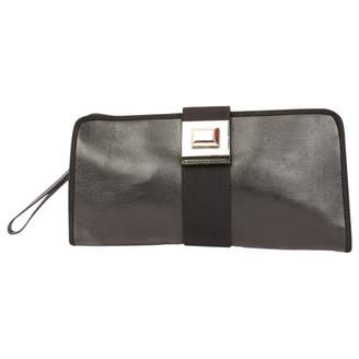 Azzaro Black Leather Clutch Bag