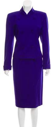 Christian Dior Structured Wool Skirt Suit