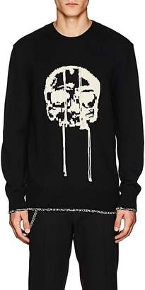 Alexander McQueen Men's Skull-Intarsia Wool Sweater