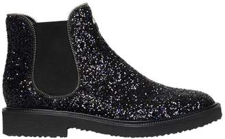 Giuseppe Zanotti Design Glittered Chelsea Boots With Zipper Trim