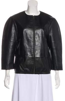 J Brand Leather Zip-Up Jacket