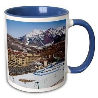 Walter 3drose 3dRose USA, Colorado, Mt Crested Butte Ski Village - US06 WBI0174 Bibikow - Two Tone Blue Mug, 11-ounce