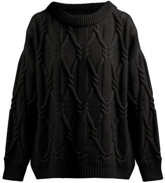 Queene And Belle - Jean Round Neck Wool Sweater - Womens - Black