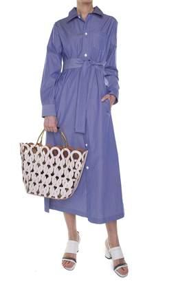 A.P.C. Millie Tie-waist Striped Cotton-poplin Dress