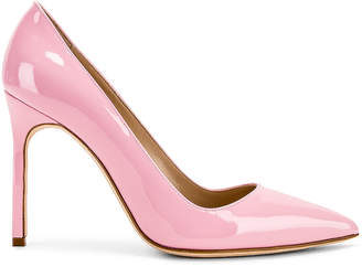 Manolo Blahnik BB Pump in Baby Pink Patent | FWRD