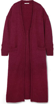 Co Oversized Wool-blend Boucle Cardigan - Burgundy