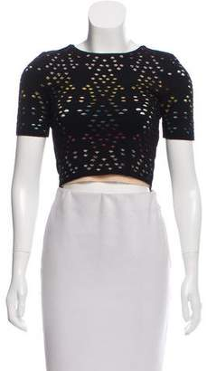 Alice + Olivia Open Knit Crop Top
