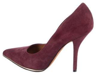 Givenchy Suede Pointed-Toe Pumps