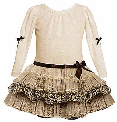 Bonnie Baby Newborn Sparkle Dress & Panty Set