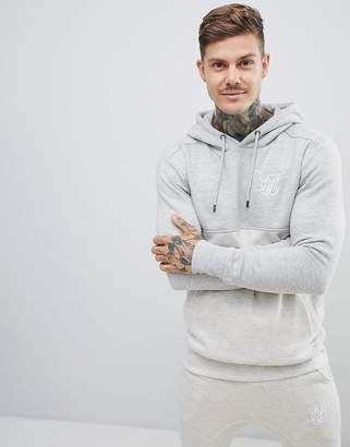 SikSilk cut and sew hoodie in gray