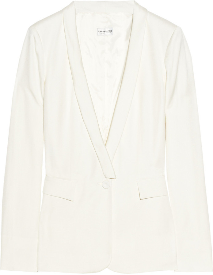 Philosophy di Alberta Ferretti Lightweight twill tuxedo jacket