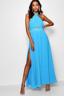 boohoo Maisy Strappy Cut Out Detail Maxi Dress