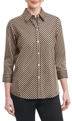 Foxcroft Fallon Satin Stripe Cotton Shirt