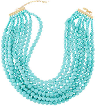 Emily and Ashley Greenbeads By Multi-Strand Beaded Necklace, Turquoise-Color
