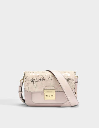 MICHAEL Michael Kors Sloan Editor Large Shoulder Bag in Soft Pink King Leather
