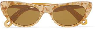 Cat Eye Lucy Folk Slice Of Heaven Cat-eye Acetate Sunglasses