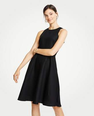 Ann Taylor Linen Cotton Flare Dress