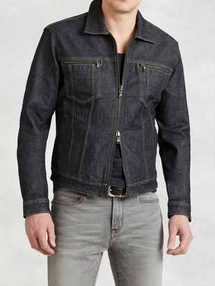 Denim Zip Jacket $198 thestylecure.com